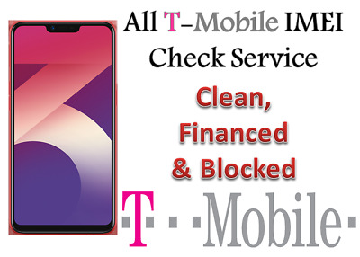 Fast check Service T-Mobile USA IMEI Clean Financed Blocked