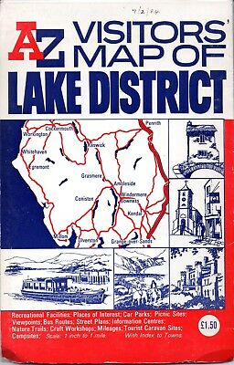 Map – Az Visitors Map Of Lake District (1984)