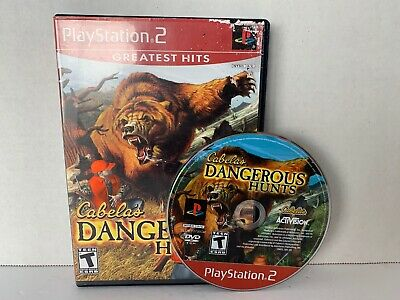 Cabela's Dangerous Hunts Greatest Hits  PlayStation 2 PS2 Complete *CLEANED VG