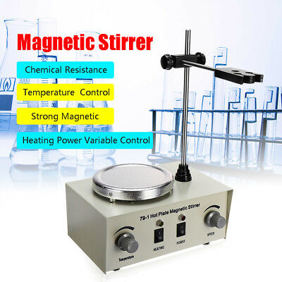 79-1 1000ml Hot Plate Magnetic Stirrer Lab Heating Dual Control Mixer 110/220V