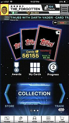 Star Wars Card Trader Pick Any 2 Unlocked Cards From Account. See Pic For Info.