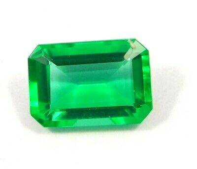 Treated Faceted Emerald Gemstone14CT 15x11mm NG16059