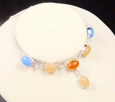 Baltic Amber & Chalcedony .925 Silver Charming Necklaces Jewelry JC1938-JC1987