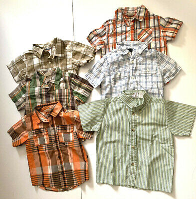 Lot of 6 Boys Short Sleeve Button Down Shirts, Crazy8,Gymboree.. SZ 24M,2T,3T,4T