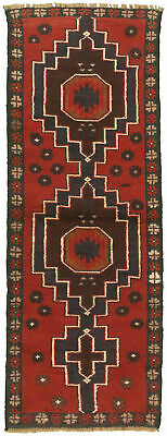 """Hand-knotted Carpet 2'1"""" x 6'1"""" Traditional Vintage Wool Rug"""
