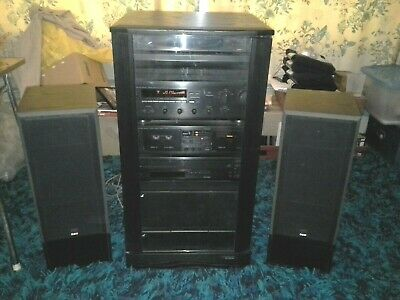 1991 vintage Yamaha Stereo System with 2 x 500 B&W Speakers – good condition