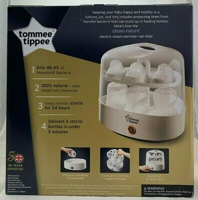 Tommee Tippee Baby - Electric - 24 Hour - BPA Free - 5 Bottle Steam Sterilizer