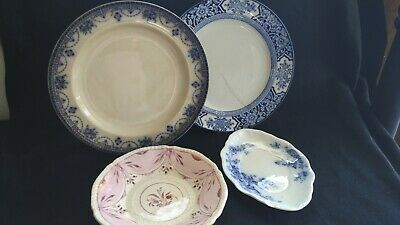 Collection of Antique plates porcelain & ironstone Grindley & Co, Woods & Sons
