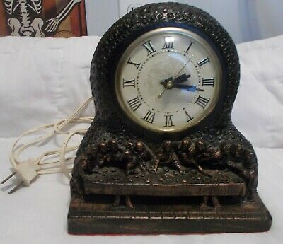 """Last Supper"" Electric Clock Movement by Lanshire Chalkware"