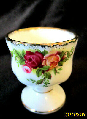 "ROYAL ALBERT   ""Old Country Roses""   Egg Cup & Bonus Spoon   1st Quality"