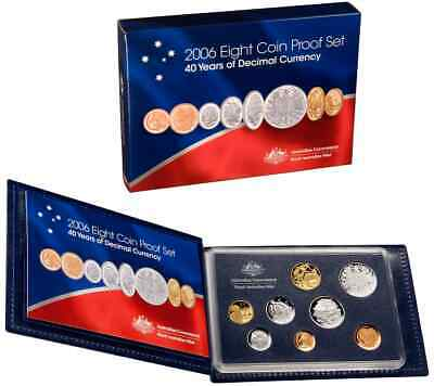 Australia 2006 8 Coin Proof Set - 40 Years of Decimal Currency