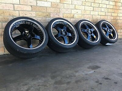 GENUINE SIMMONS FR-1 20 Inch Wheels And Tyres Staggered Set