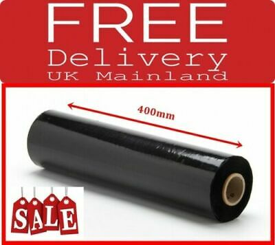 1x BLACK PALLET STRETCH-SHRINK WRAP CAST PARCEL PACKING CLING FILM RAP 400MM