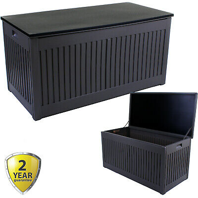 270L Outdoor Garden Storage Box Plastic Utility Chest Cushions Toys Furniture