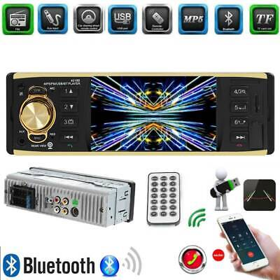 Single 1 DIN Car Video MP5 MP3 Player Bluetooth TF USB AUX IN Stereo Audio Radio
