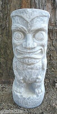 """Smiling tiki statue mold 1/8th """" poly plastic mold concrete mould"""