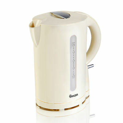 Swan 2200W 1.7 Litre Cream Electric Cordless Jug Kettle Fast Rapid Water Boil