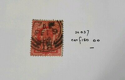 Gb Stamps King Edward Vii Sg O37 1D O.w Offical Used