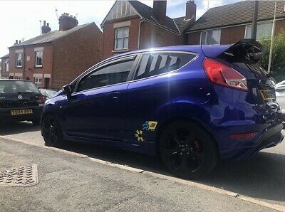 Ford Fiesta Rear Window Louvres Mk7 All Models Show Stance Track St Ecoboost