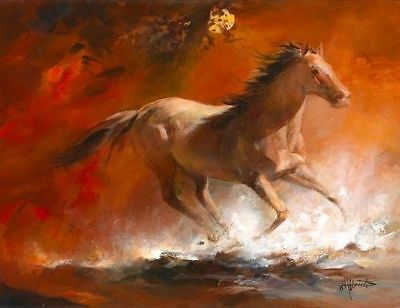 CHENPAT122 modern runing horses art oil painting 100% hand-painted on canvas