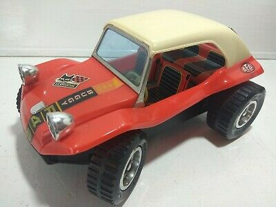 Vintage TAIYO 1970s Tinplate SAND buggy DUNE RETRO toy classic red tin rare