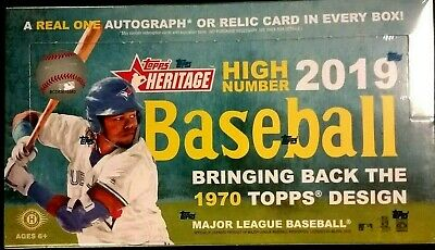 2019 Topps HERITAGE HIGH NUMBER Baseball HOBBY Box IN STOCK - FREE PRIORITY SHIP