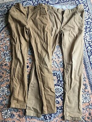 2 Pairs Of Boys Chinos Trousers 11-12