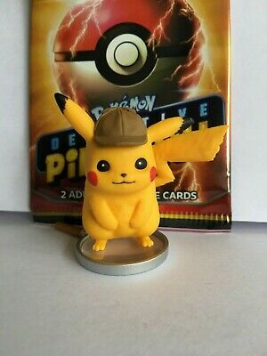 Detective Pikachu on the Case Collection Figurine Model (Official Pokemon TCG)