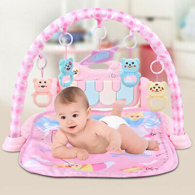 3 in 1 Baby Light Musical Gym Play Mat Lay & Play Fitness Fun Piano Boy Girl AA