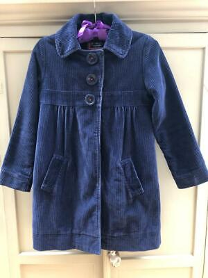 MINI BODEN Girls Navy Blue Corduroy Empire Line Style Size 9-10yrs