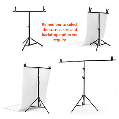 Backdrop Support | T Stand & Crossbar Background Kit | Photography T-Bar Vinyl
