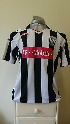 West Bromwich Albion Home Football Shirt Jersey 2007-2008 Large