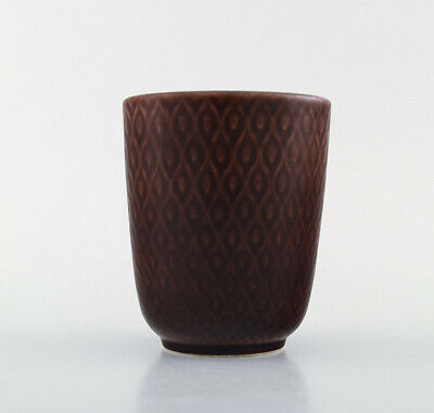 "Nils Thorsson for Aluminia. ""Marselis"" faience vase with geometric pattern"