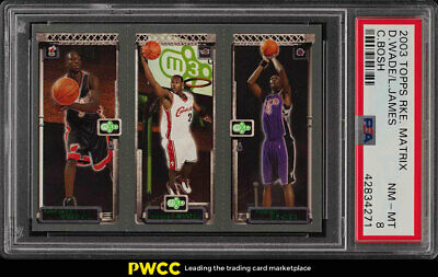 2003 Topps Matrix LeBron James Dwyane Wade Chris Bosh ROOKIE RC PSA 8 (PWCC)