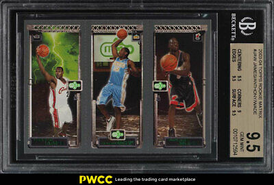 2003 Topps Matrix LeBron James Dwyane Wade Carmelo Anthony ROOKIE BGS 9.5 (PWCC)