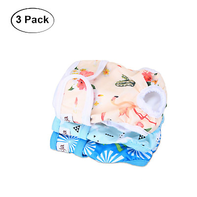 LUXJA Reusable Female Dog Diapers Pack of 3, Washable Wraps for Female Dog