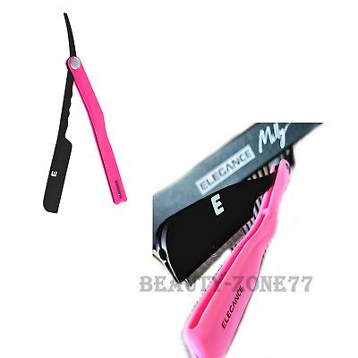 Elegance Milly Clutch Razor Holder black /pink Partially exposed blade