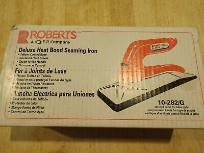 Roberts Seaming Carpet Iron Non-Stick Sole Adjustable Thermostat Heat Bond