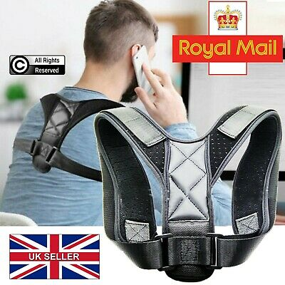 Back Posture Corrector Shoulder Correction Adjustable Back Brace Support Belt UK