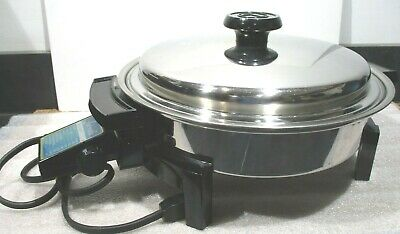 _LIFETIME Cookware Stainless Electric SKILLET Custom Designed #37906