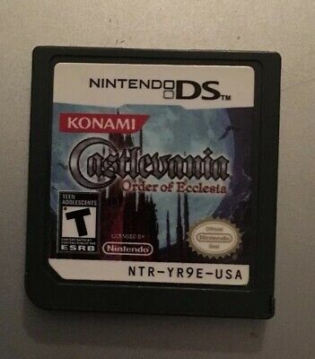 Nintendo DS Castlevania: Order of Ecclesia Game Cartridge Authentic Tested