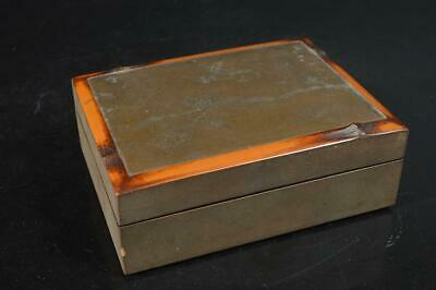 S9369: Japanese Wooden Lacquer ware CONTAINER for article Accessories Case Box