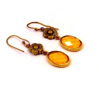 Citrine .925 Gold Awesome Earrings Jewelry JC6121-JC6167