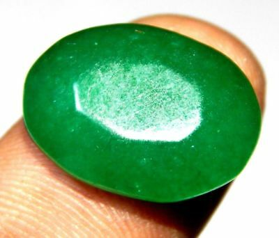 Dyed Faceted Beryl Emerald Loose Gemstone 15 ct 21x16mm F314