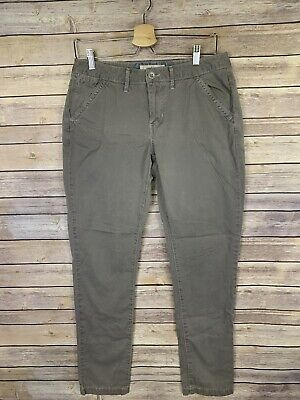 Levis Womens Size 6 Flat Front Pants Skinny Leg Gray Pockets