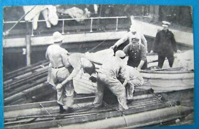 1915 PC (postcard) SS EASTLAND sinks Chicago River 844 drown-body recovery   (H)