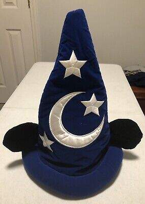Disney Parks Mickey Mouse Ears Fantasia Sorcerer Magic Hat Adult a5aa