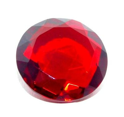 Treated Faceted Garnet Round Cabochon Pendant Size Loose Gemstone A3