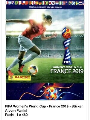 Lot Stickers Panini Coupe Du Monde Foot Féminin France 2019