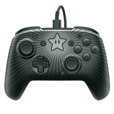 Fireoff Wired Pro Controller-Star Mario For Nintendo Switch